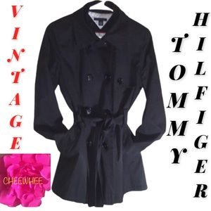 Tommy Hilfiger VTG Double Breasted Trench M EUC